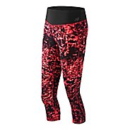 Womens New Balance Premium Performance Print Capris Pants