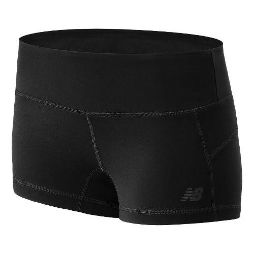 Womens New Balance Premium Performance Hot Unlined Shorts - Black L