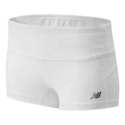 Womens New Balance Premium Performance Hot Unlined Shorts - White L