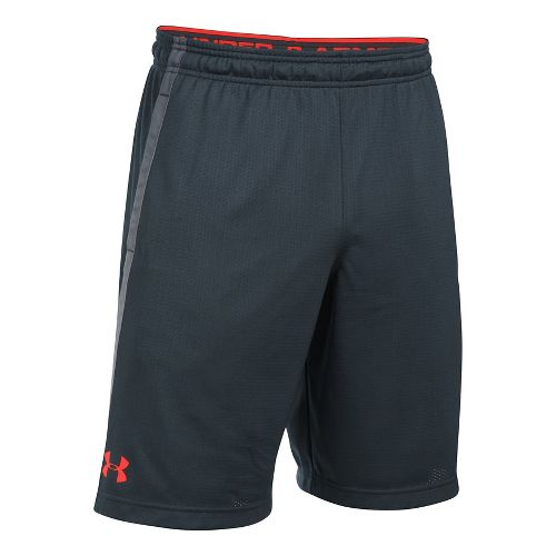 Mens Under Armour Tech Mesh Unlined Shorts - Stealth Grey/Phoenix XL