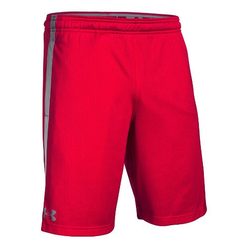 Mens Under Armour Tech Mesh Unlined Shorts - Red XXLR