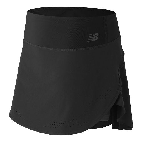 Womens New Balance Woven Skorts Fitness Skirts - Black/Grey XS