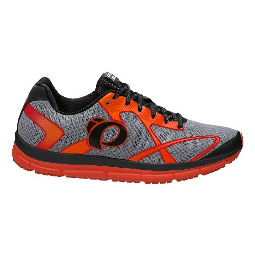 Mens Pearl Izumi EM Road N 2 V3 Running Shoe - Silver/Orange 14