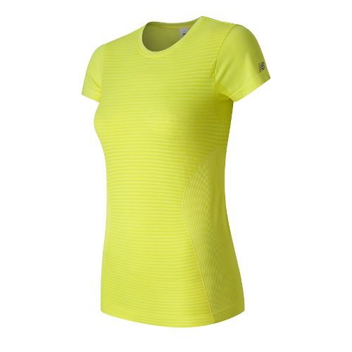Womens New Balance M4M Seamless Short Sleeve Technical Tops - Firefly Heather M