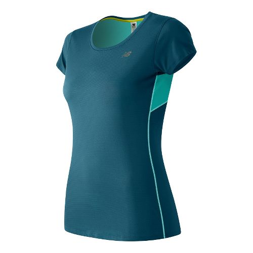 Womens New Balance Accelerate Short Sleeve Technical Tops - Castaway S