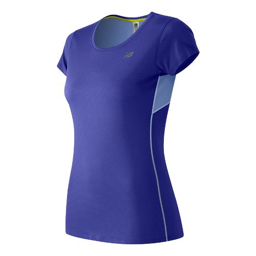 Womens New Balance Accelerate Short Sleeve Technical Tops - Spectral S