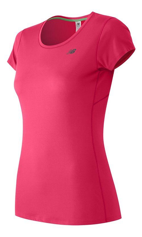Womens New Balance Accelerate Short Sleeve Technical Tops - Alpha Pink S
