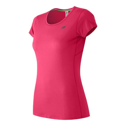 Womens New Balance Accelerate Short Sleeve Technical Tops - Alpha Pink XS