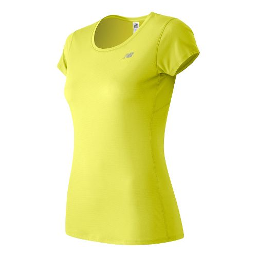 Womens New Balance Accelerate Short Sleeve Technical Tops - Firefly 2X