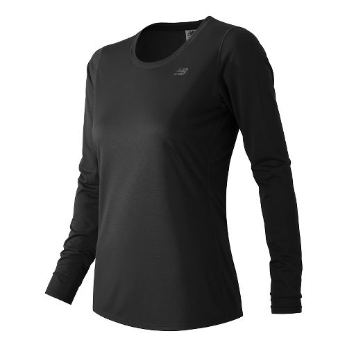 Womens New Balance Accelerate Long Sleeve Technical Tops - Black L