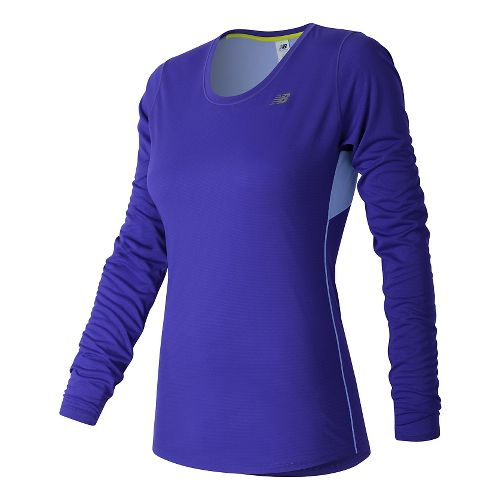 Womens New Balance Accelerate Long Sleeve Technical Tops - Spectral S