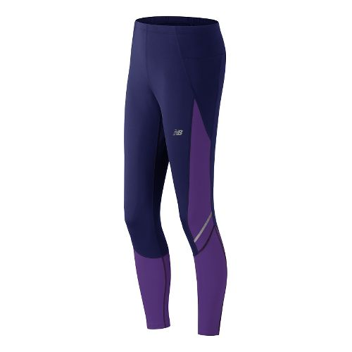 Womens New Balance Accelerate Tights & Leggings Pants - Aviator M