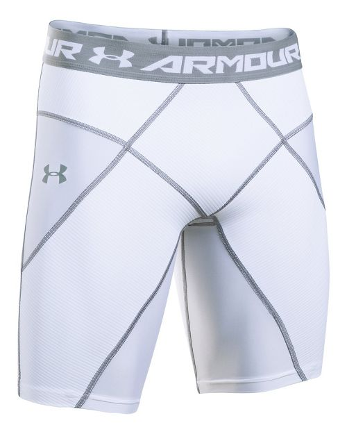 Mens Under Armour HeatGear Core Compression & Fitted Shorts - White/White 3XL