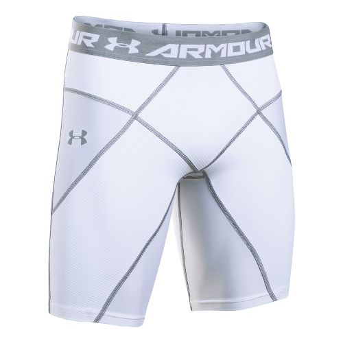 Mens Under Armour HeatGear Core Compression & Fitted Shorts - White/White L