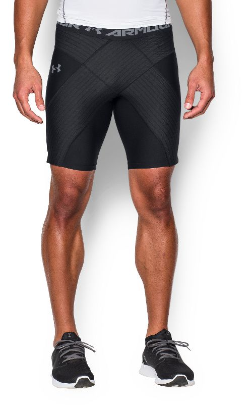Mens Under Armour HeatGear Armour CoreShort Pro Compression & Fitted Shorts - Black L