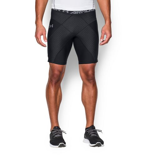 Mens Under Armour HeatGear Armour CoreShort Pro Compression & Fitted Shorts - Black XL
