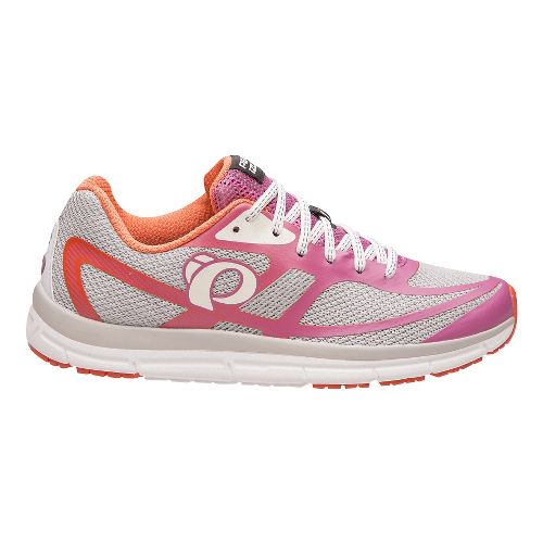 Womens Pearl Izumi EM Road M 2 V3 Running Shoe - Silver/Rose 8