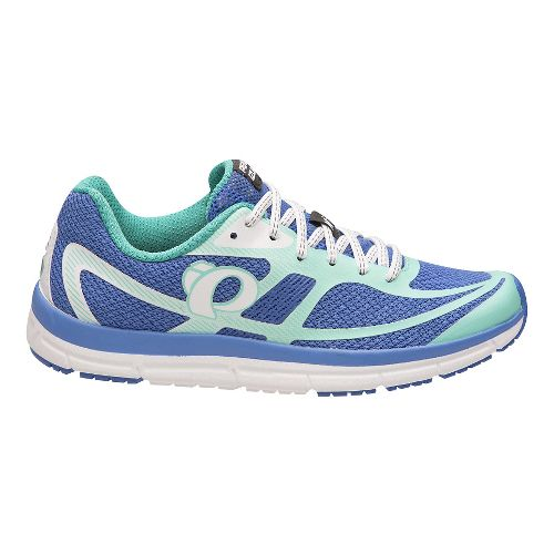 Womens Pearl Izumi EM Road M 2 V3 Running Shoe - Smoked Pearl Aqua 7.5 ...