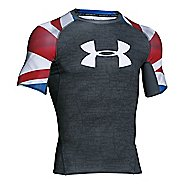Mens Under Armour UK Pride HeatGear Armour Compression Shirt Short Sleeve Technical Tops