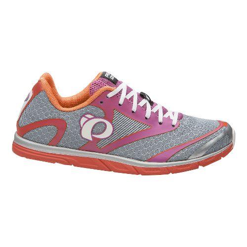 Womens Pearl Izumi EM Road N 0 v2 Running Shoe - Silver/Clementine 9