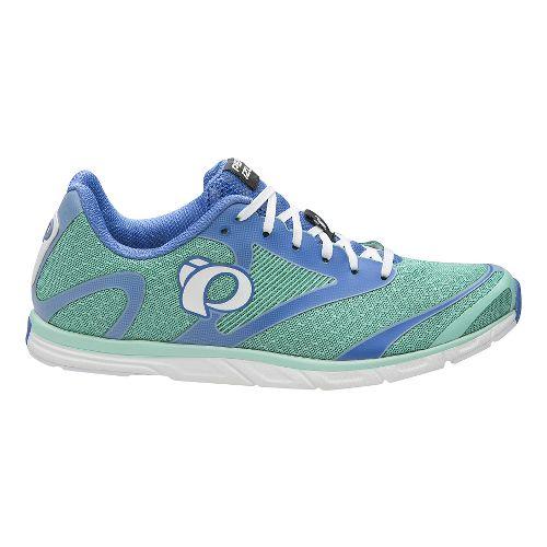Womens Pearl Izumi EM Road N 0 v2 Running Shoe - Aqua Mint/White 8