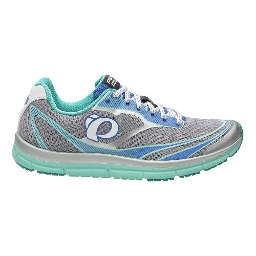 Womens Pearl Izumi EM Road N 2 V3 Running Shoe - Silver/Aqua 10.5