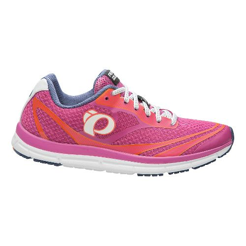 Womens Pearl Izumi EM Road N 2 V3 Running Shoe - Rose/White 5