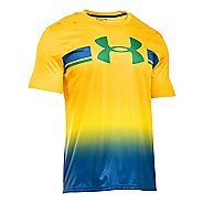 Mens Under Armour Brazil Country Pride T Short Sleeve Technical Tops