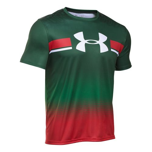 Mens Under Armour Mexico Country Pride T Short Sleeve Technical Tops - Forest Green M-R ...