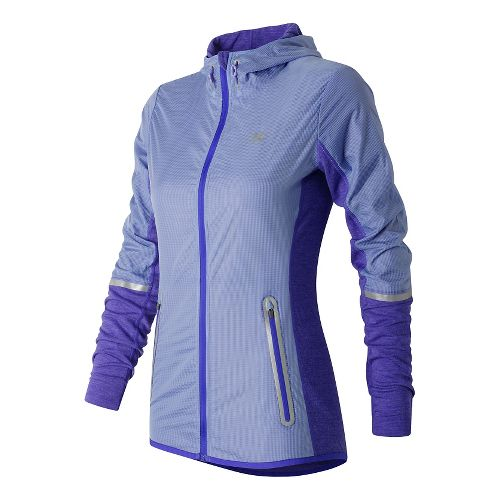 Womens New Balance Performance Merino Hybrid Running Jackets - Spectral L