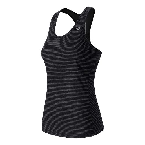 Womens New Balance Performance Merino Sleeveless & Tank Technical Tops - Black Heather S