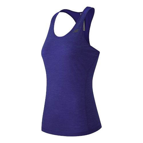 Womens New Balance Performance Merino Sleeveless & Tank Technical Tops - Spectral L