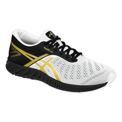 Mens ASICS fuzeX Lyte Running Shoe - Black/White 10.5