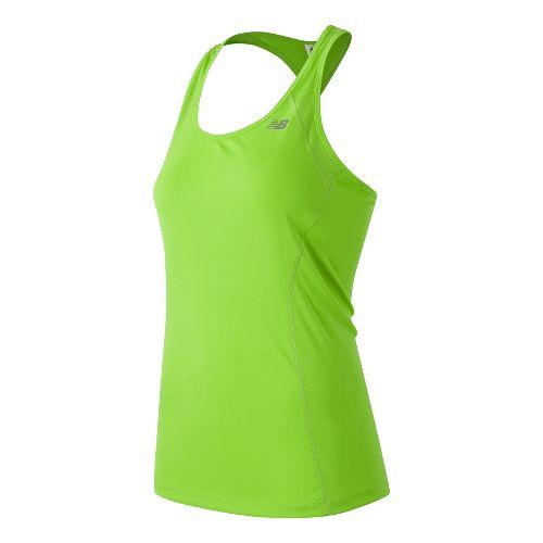 Womens New Balance NB Ice Sleeveless & Tank Technical Tops - Toxic L