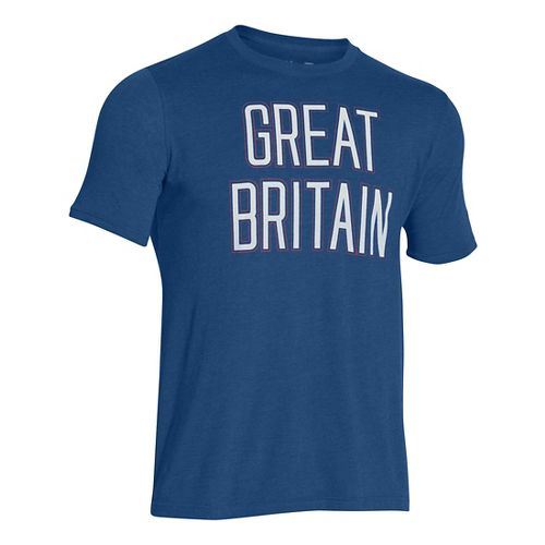 Mens Under Armour Great Britain Country Pride Triblend T Short Sleeve Technical Tops - American ...