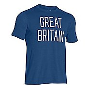 Mens Under Armour Great Britain Country Pride Triblend T Short Sleeve Technical Tops