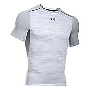 Mens Under Armour HeatGear Podium Compression Short Sleeve Technical Tops