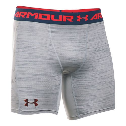 Mens Under Armour HeatGear Podium Compression & Fitted Shorts - Overcast Grey L