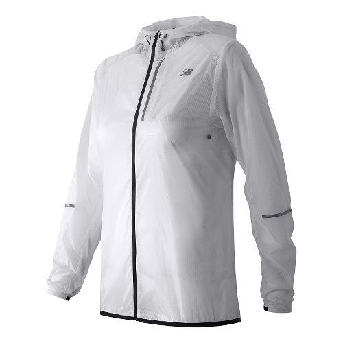 Womens New Balance Lite Packable Running Jackets - White XL