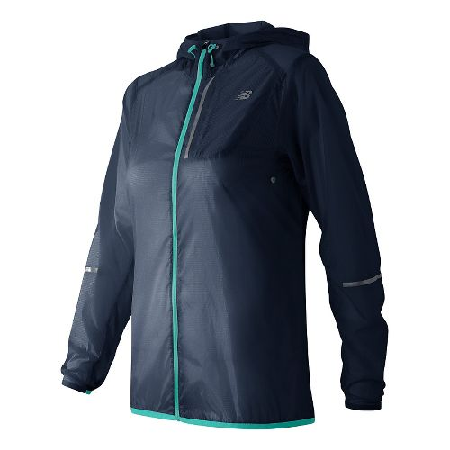 Womens New Balance Lite Packable Running Jackets - Galaxy M