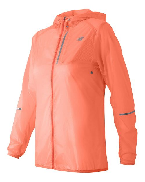 Womens New Balance Lite Packable Running Jackets - Bleached Sunrise L