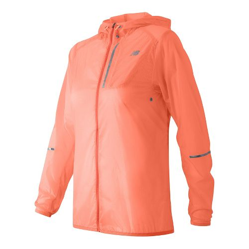 Womens New Balance Lite Packable Running Jackets - Bleached Sunrise M
