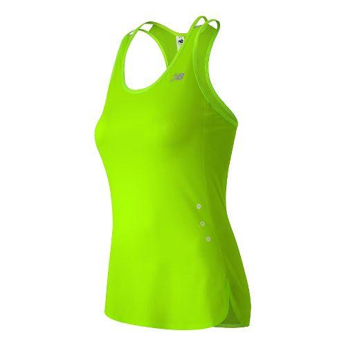 Womens New Balance Precision Run Sleeveless & Tank Technical Tops - Toxic S