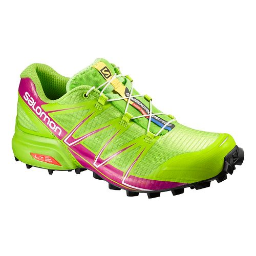 Womens Salomon Speedcross Pro Trail Running Shoe - Granny Green 10