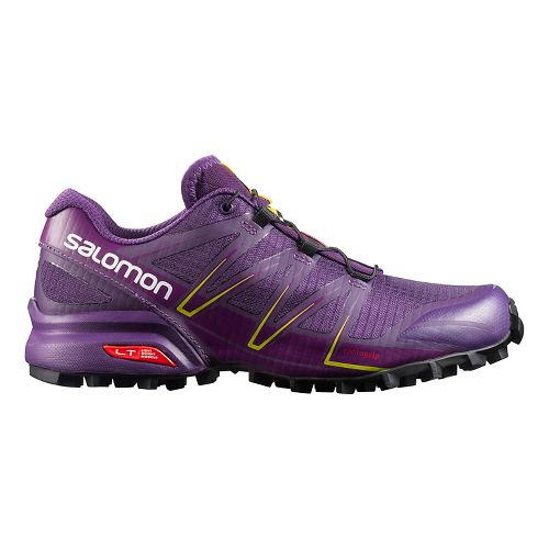 Womens Salomon Speedcross Pro Trail Running Shoe - Cosmic Purple/Black 9