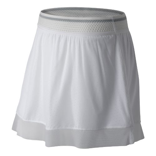 Womens New Balance Tournament Skorts Fitness Skirts - White 2X