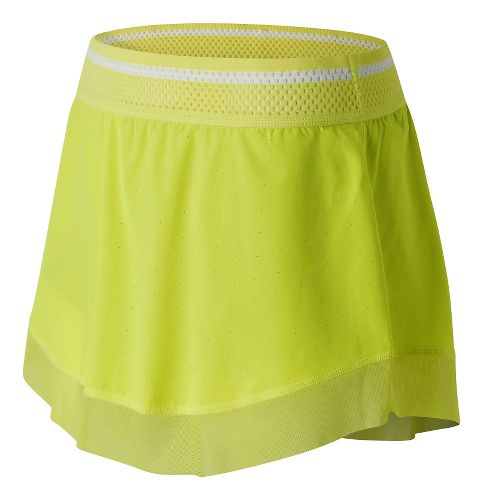 Womens New Balance Tournament Skorts Fitness Skirts - Firefly L