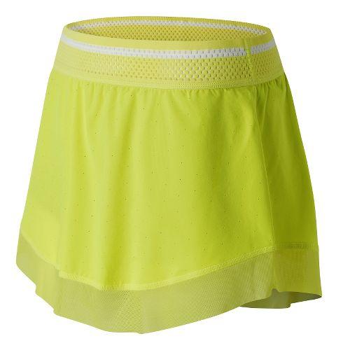 Womens New Balance Tournament Skorts Fitness Skirts - Firefly M