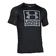 Mens Under Armour Tech Boxed Logo T Short Sleeve Technical Tops