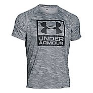 Mens Under Armour Boxed Logo Printed T Short Sleeve Technical Tops